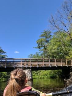 Walking bridge over the Ipswich River